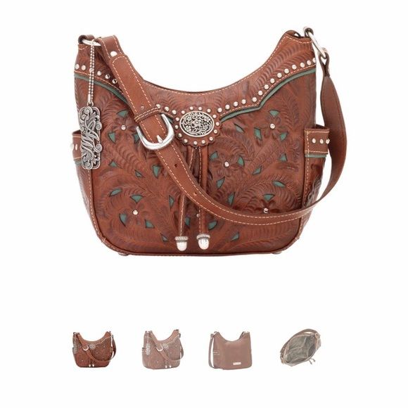 f189d55b069 American West Lady Lace Zip Top Everyday Hobo Bag